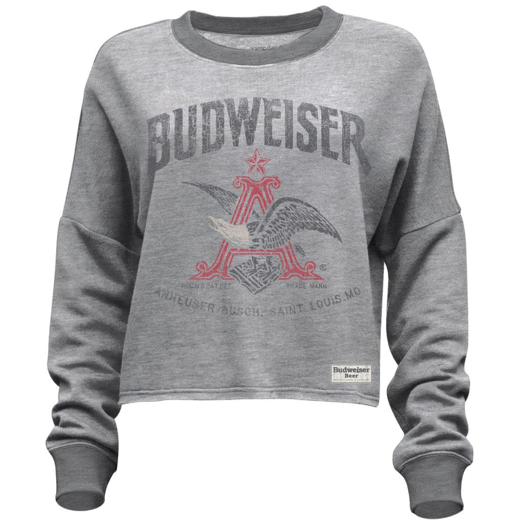 Ladies Crop Budweiser Fleece