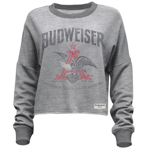 Budweiser Ladies Crop Sweatshirt