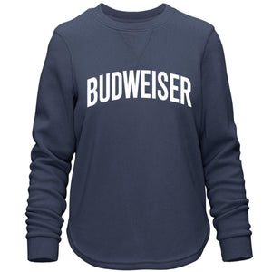 Budweiser Ladies Arched Applique Comfy Crew