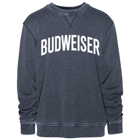 Budweiser Arched Applique Vintage Crew