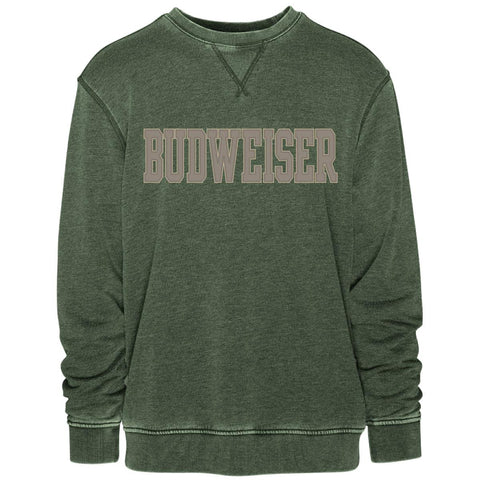 Budweiser Applique Vintage Crew- Green