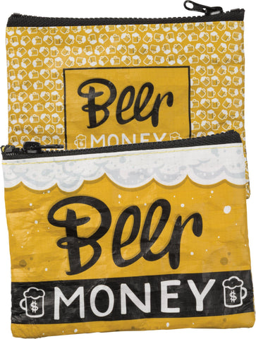 Beer Money Zipper Pouch