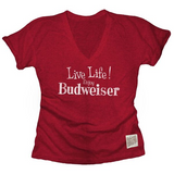 Ladies Live Life Enjoy Bud Tee