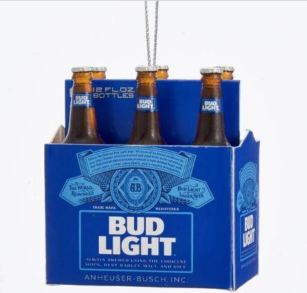 Bud Light 6PK Bottle Ornament