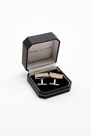 Tokens & Icons- Authentic Beechwood Cuff Links