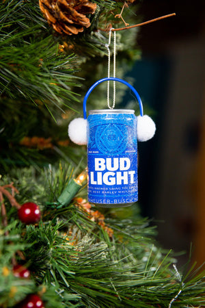 Bud Light Ear Muff Can Ornament
