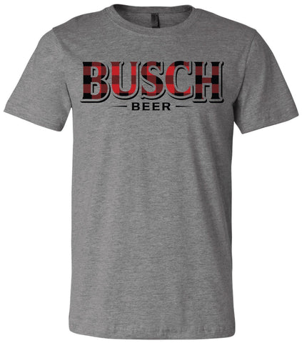 Busch Beer Buffalo Plaid Tee