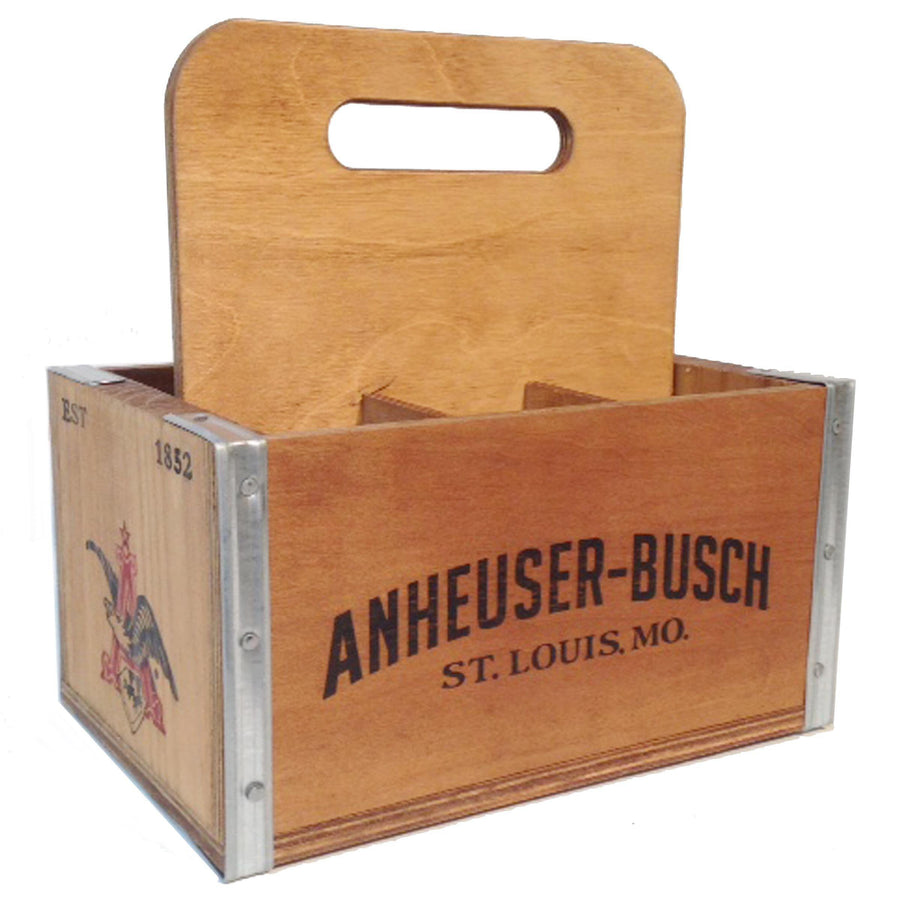Anheuser-Busch Wooden 6-Pack Carrier
