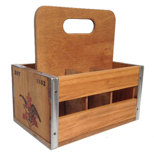 Anheuser-Busch Slatted Wooden 6-Pack Carrier