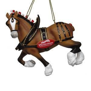 Budweiser Clydesdale Resin Ornament