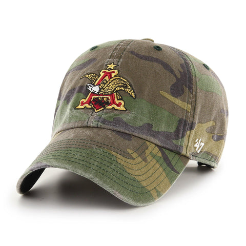 A & Eagle '47 Brand Camo Raised Garment Washed Hat