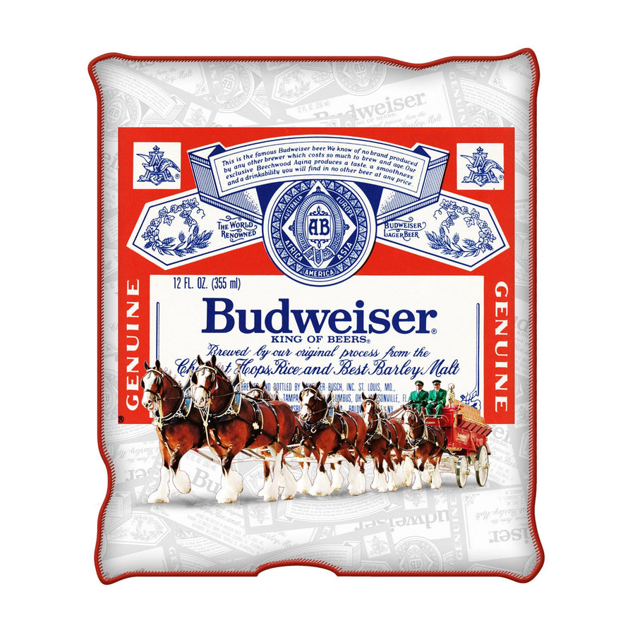 Budweiser Label Clydesdale Throw Blanket