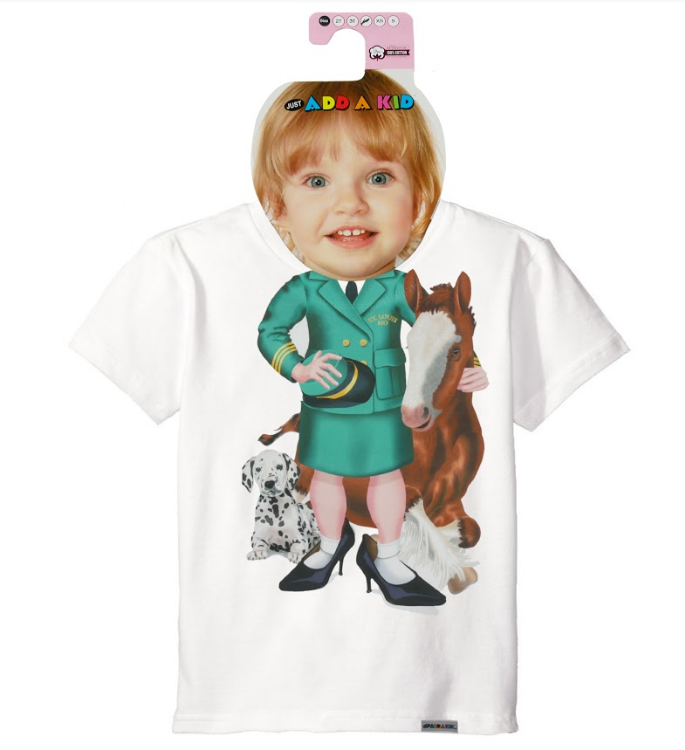 Just Add a Kid Girl Clydesdale Handler Tee
