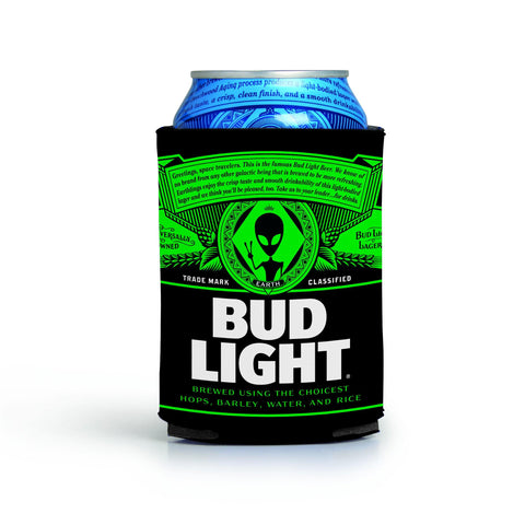 PRE-ORDER BUD LIGHT ALIEN CAN COOLIE