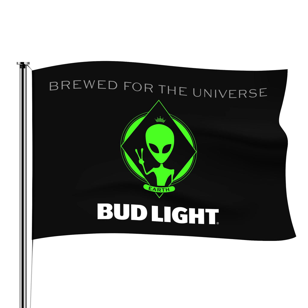 BUD LIGHT ALIEN FLAG