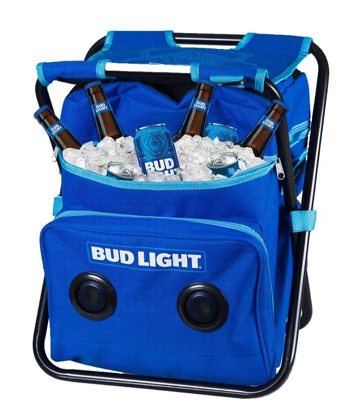 Bud Light Folding Chair W/Cooler and Speaker