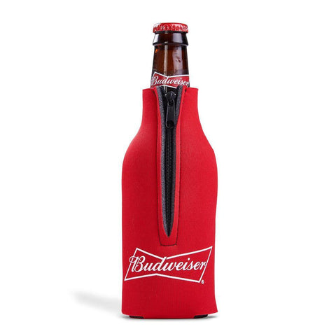 Budweiser Zippered Bottle Coolie