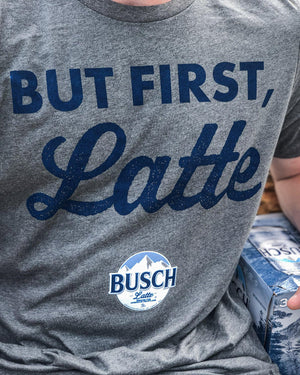 Busch Men's But First Latte T-shirt