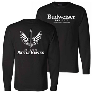 Budweiser Select Battlehawks Long Sleeve Tee