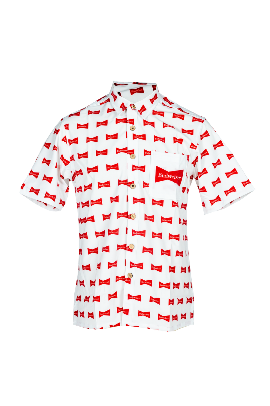 Budweiser Scatter Bowtie Camp Shirt