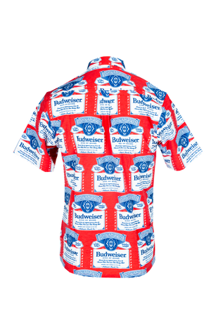 Budweiser Scatter Label Camp Shirt