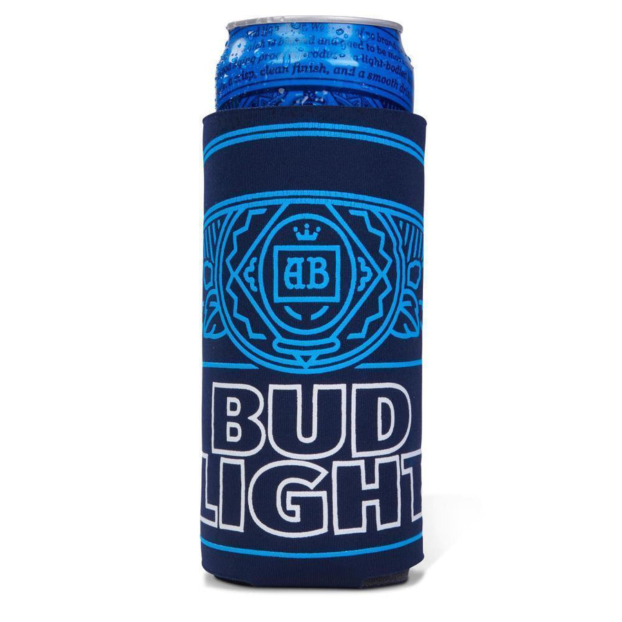 Bud Light 25 ounce Can Coolie. Our largest coolie for your favorite Crispy Boy!