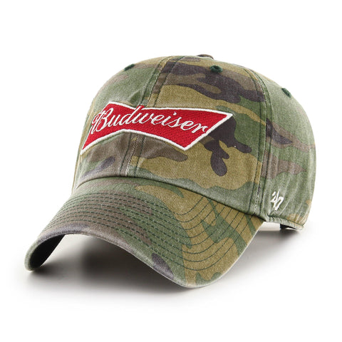 Budweiser '47 Brand Camo Clean Up Hat