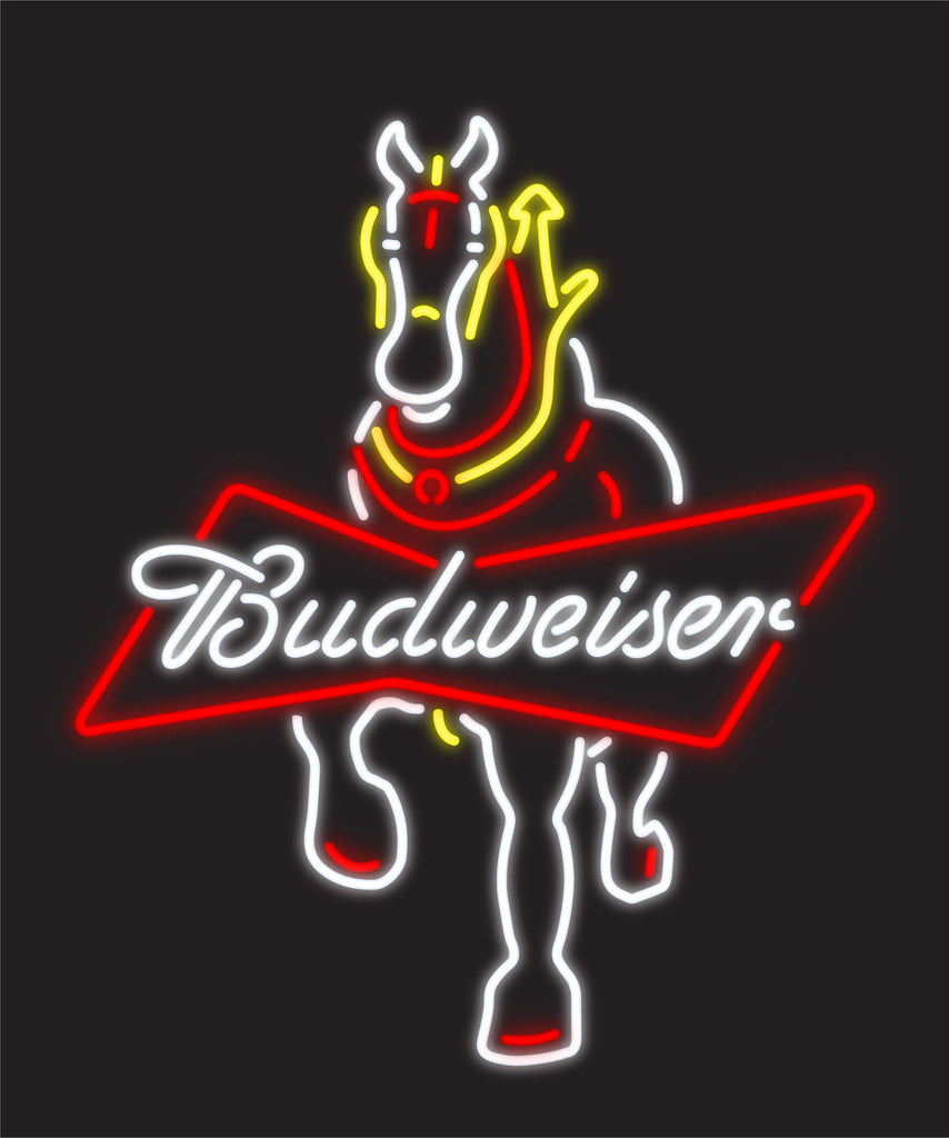 Budweiser Clydesdale Full Body Neon
