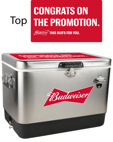 Budweiser Stainless Steel Personalized 54 qt Cooler