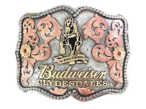 Budweiser Clydesdale Rectangle Belt Buckle
