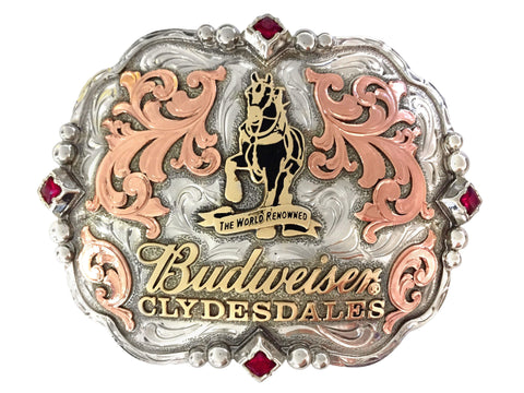 Budweiser Clydesdale Diamond Belt Buckle