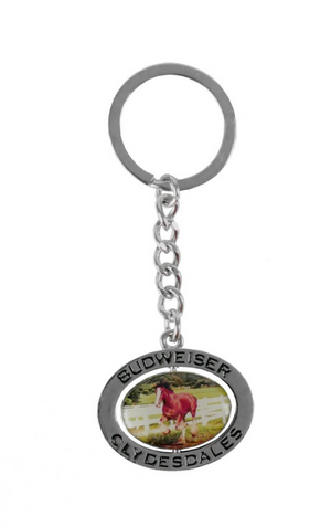 Budweiser Clydesdale Spinner Keychain