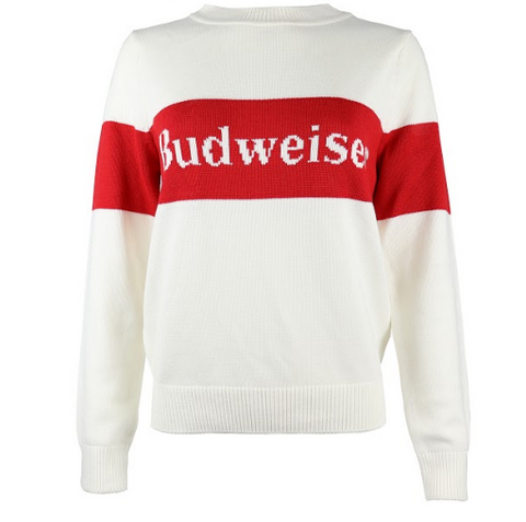 Budweiser Ladies Retro Stripe Sweater