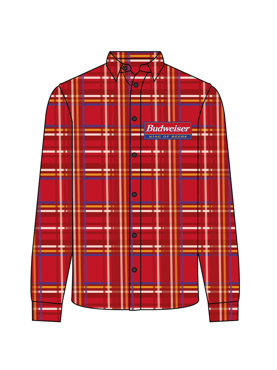 Budweiser KOB Red Flannel Button Down