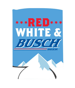 Red, White and Busch Can Coolie