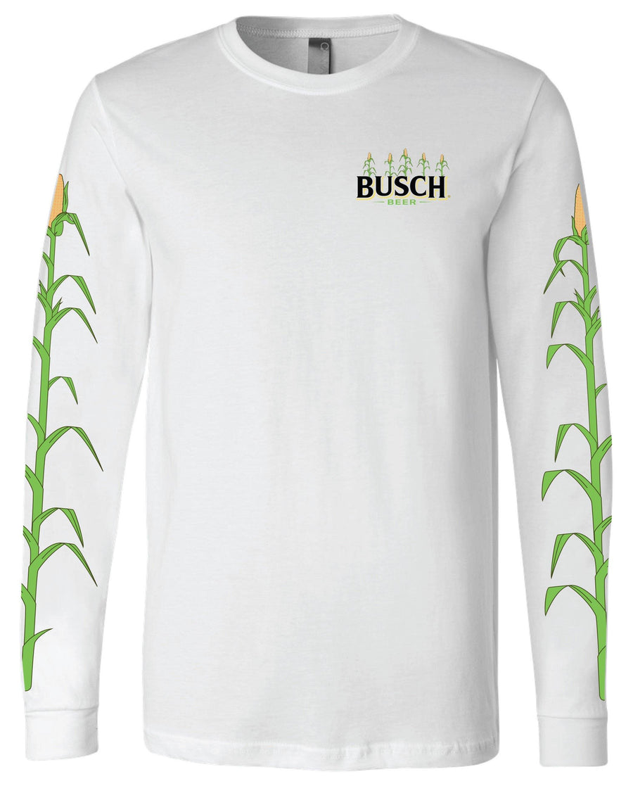 Busch Men's Long Sleeve White Corn T-Shirt