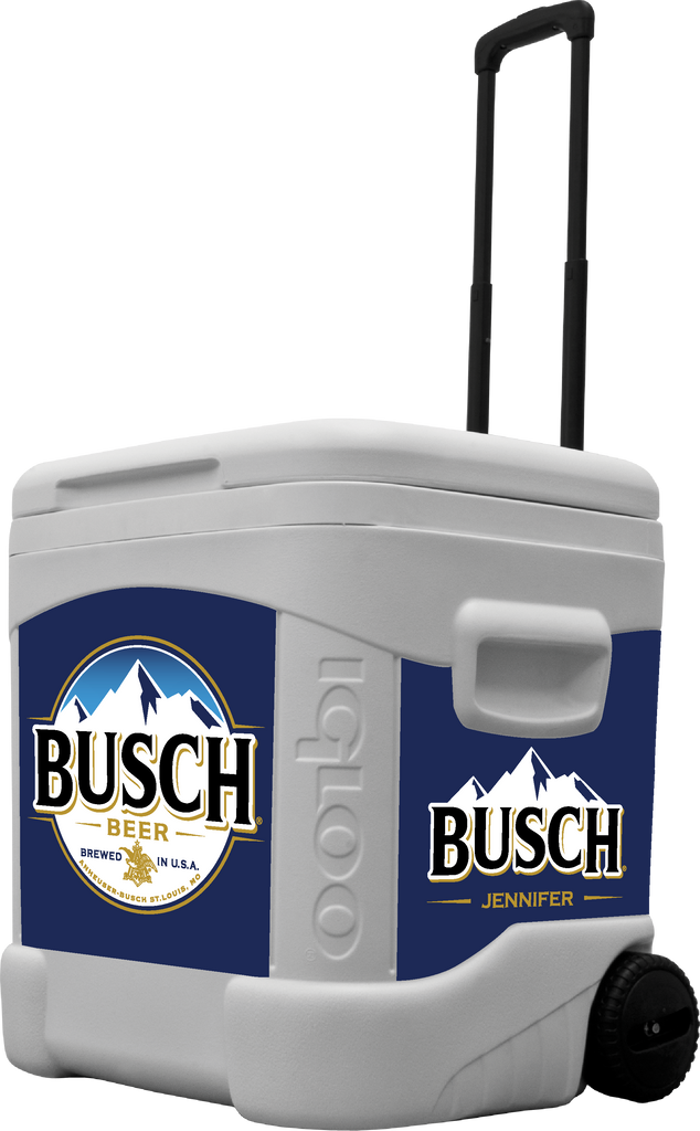 Busch Personalized 60 qt Rolling Cooler