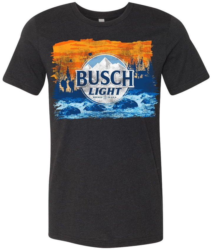 Busch Light Men's Black Camo Can T-Shirt