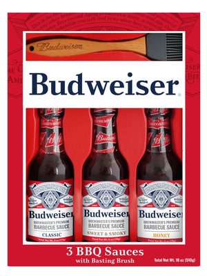 Budweiser Grilling Set - 3 Sauces and Brush