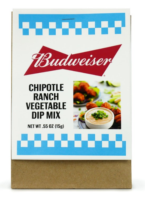 Budweiser Chipotle Ranch Vegetable Dip Mix