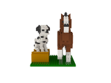 Mini Clyde and Dalmatian Building Blocks
