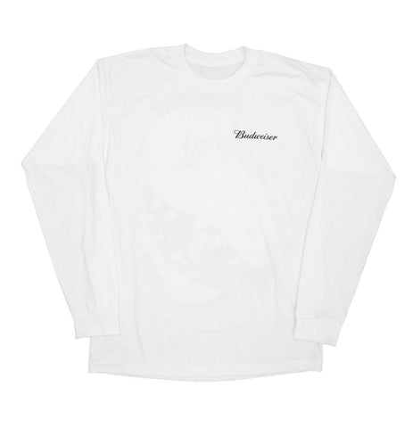 Budweiser T-Rex Crush Long Sleeve Shirt - White