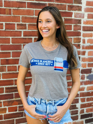 Natural Light Ladies American Brewed Crop Tee