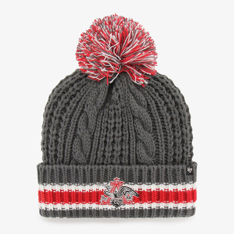 Ladies A&E Cuff Knit Pom Beanie