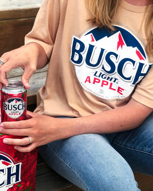 Busch Light Ladies Apple Crop Tee