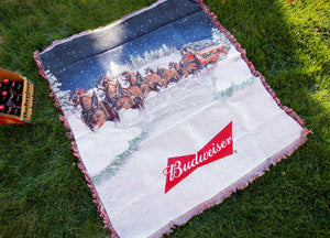 Budweiser Holiday Throw Blanket