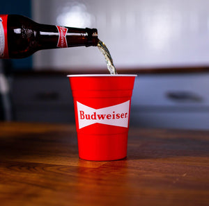 Budweiser 6 Pack Reusable Party Cup