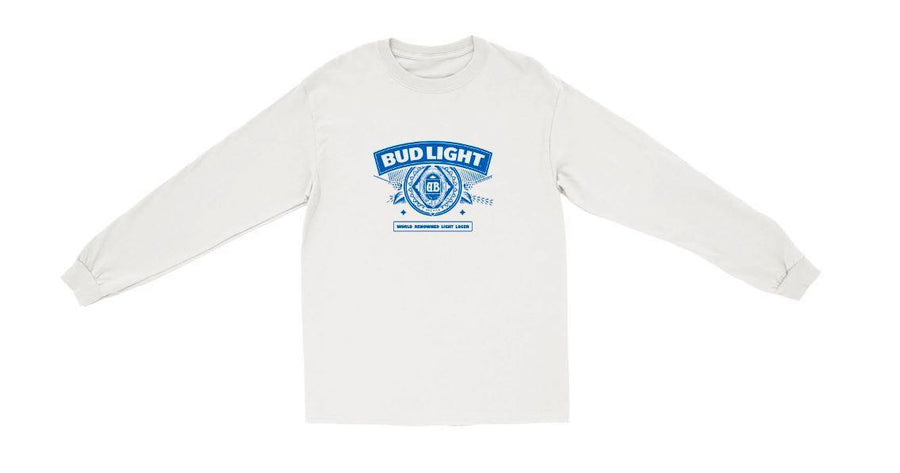 Bud Light Backprint Long Sleeve Tee