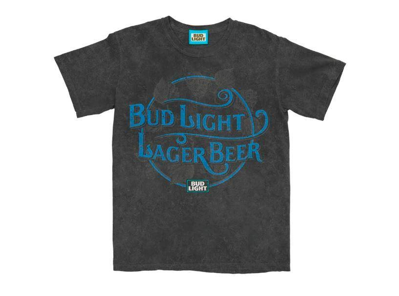 Bud Light Lager Mineral Wash Tee