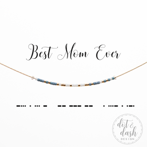 Dot & Dash- Morris Code Necklace